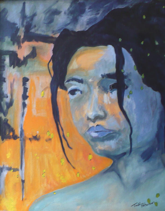 Woman Painting - My Soul Wanders A Far Away Land by Todd  Peterson