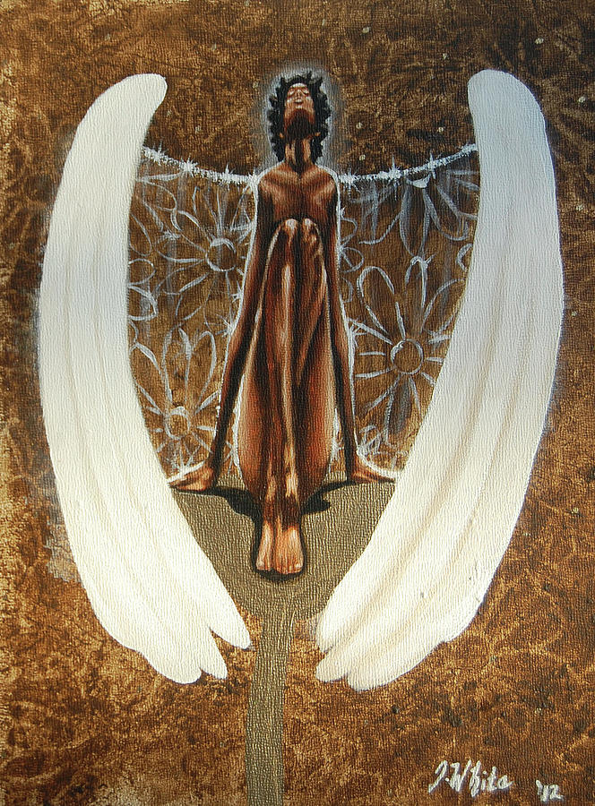 Angel Painting - My spring angel by Jerome White