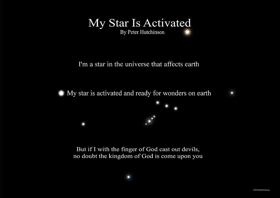 My Star Is Activated by Peter Hutchinson