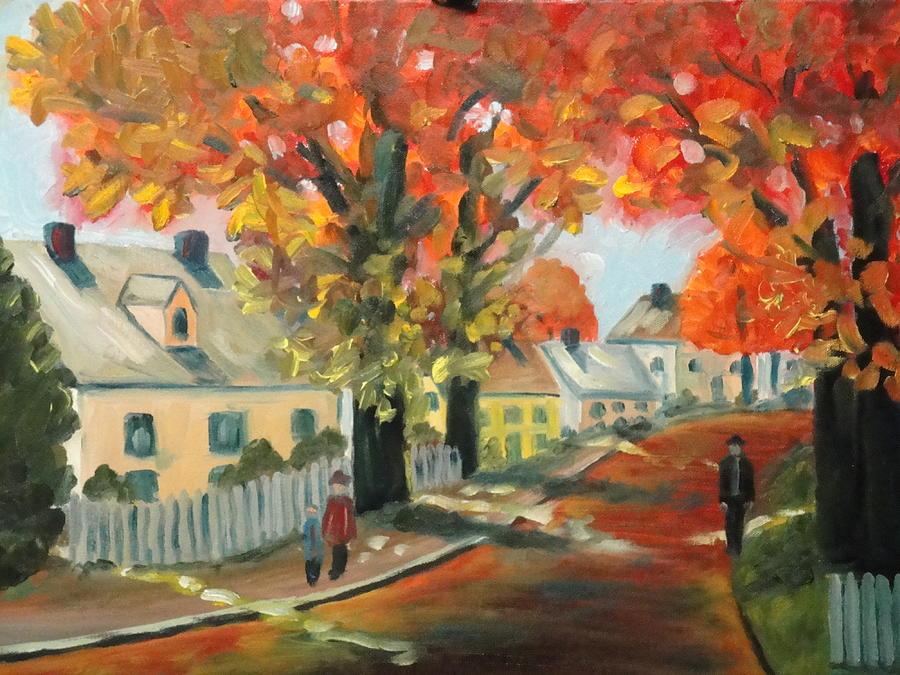 People Painting - My Street by Charles Vaughn