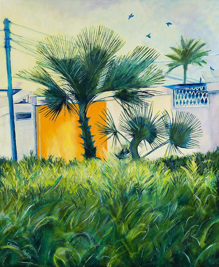 Be'er Sheva Painting - My Street Orange by Chana Helen Rosenberg