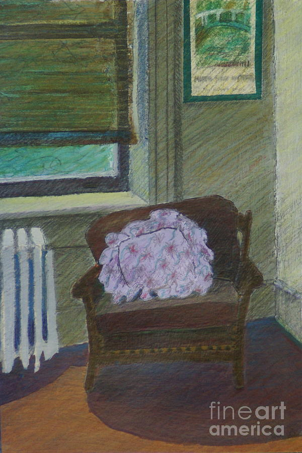 Chair Painting - My Student Apartment by Suzn Art Memorial