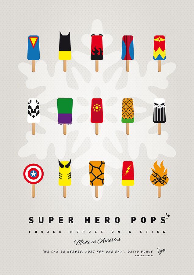 Superheroes Digital Art - My Superhero Ice Pop - Univers by Chungkong Art