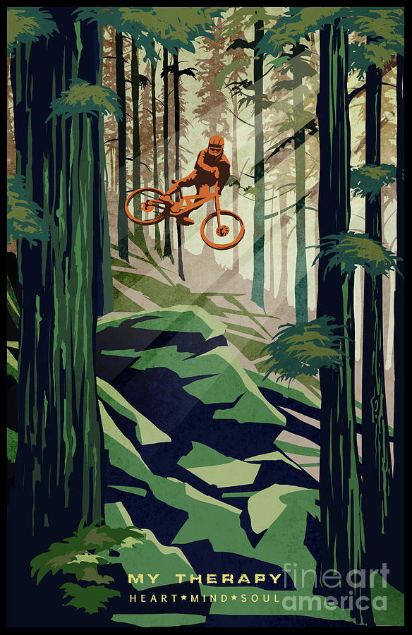 Mountain Bike Painting - My Therapy by Sassan Filsoof
