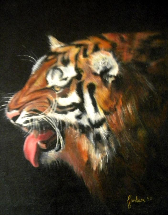 Tiger Painting - My Tiger - The Year Of The Tiger by Jordana Sands