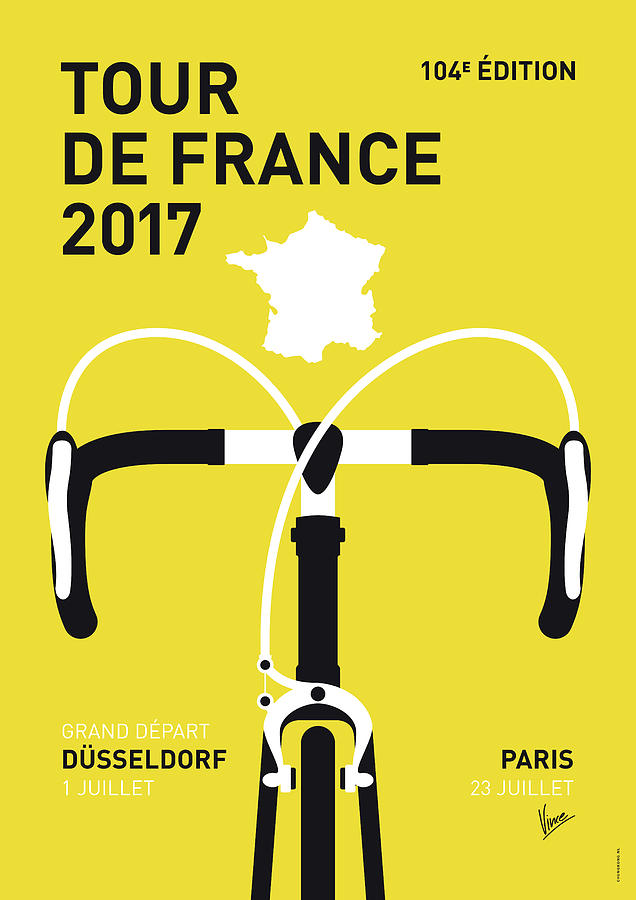 2017 Digital Art - My Tour De France Minimal Poster 2017 by Chungkong Art