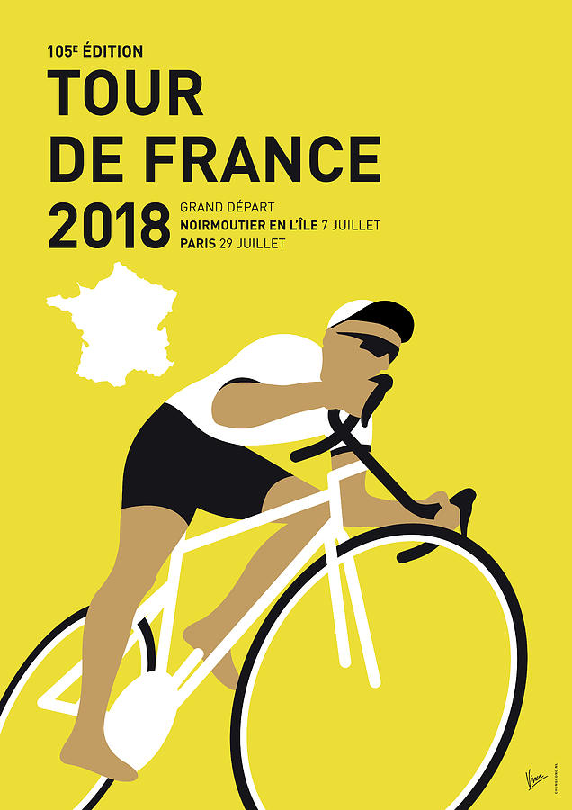 2018 Digital Art - My Tour De France Minimal Poster 2018 by Chungkong Art