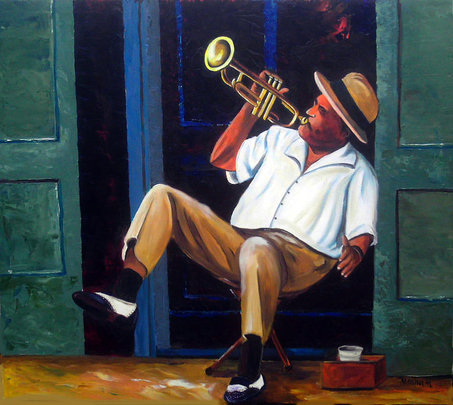 My Trumpet Painting by Jose Manuel Abraham