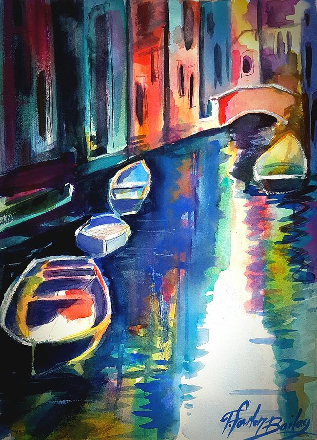 Venice Painting - My Venetian Memory by Therese Fowler-Bailey