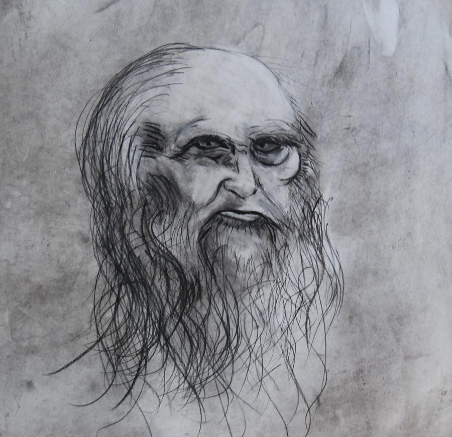 Da Vinci Drawing - my version of da Vinci by Ian  Fruehauf