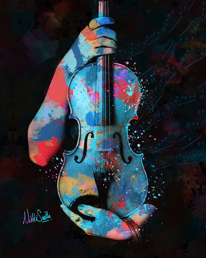 Violin Digital Art - My Violin Whispers Music in the Night by Nikki Marie Smith