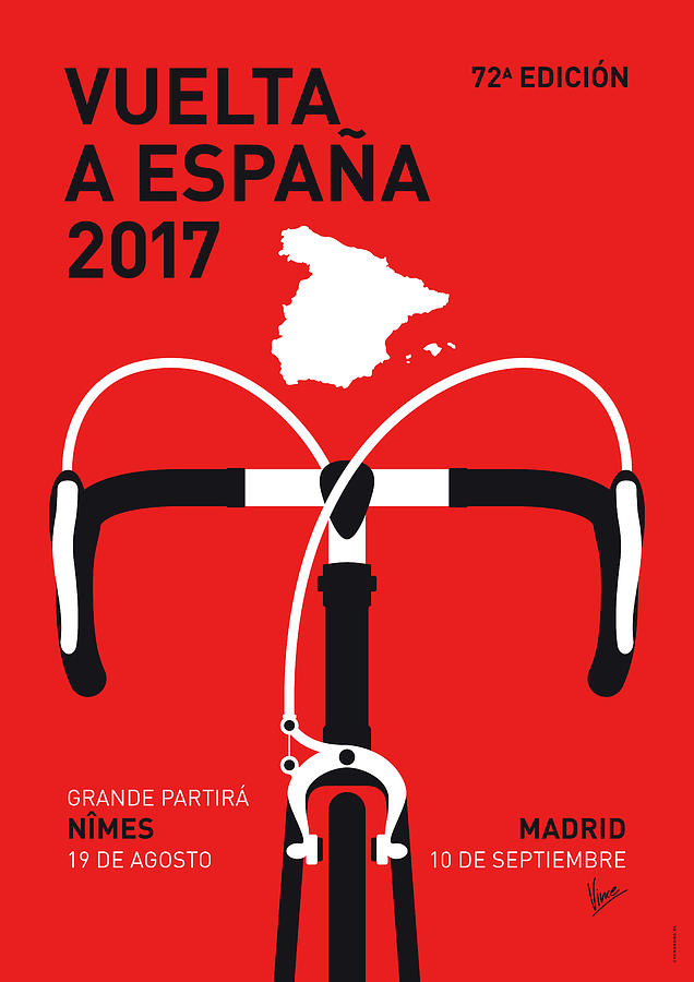 2017 Digital Art - My Vuelta A Espana Minimal Poster 2017 by Chungkong Art