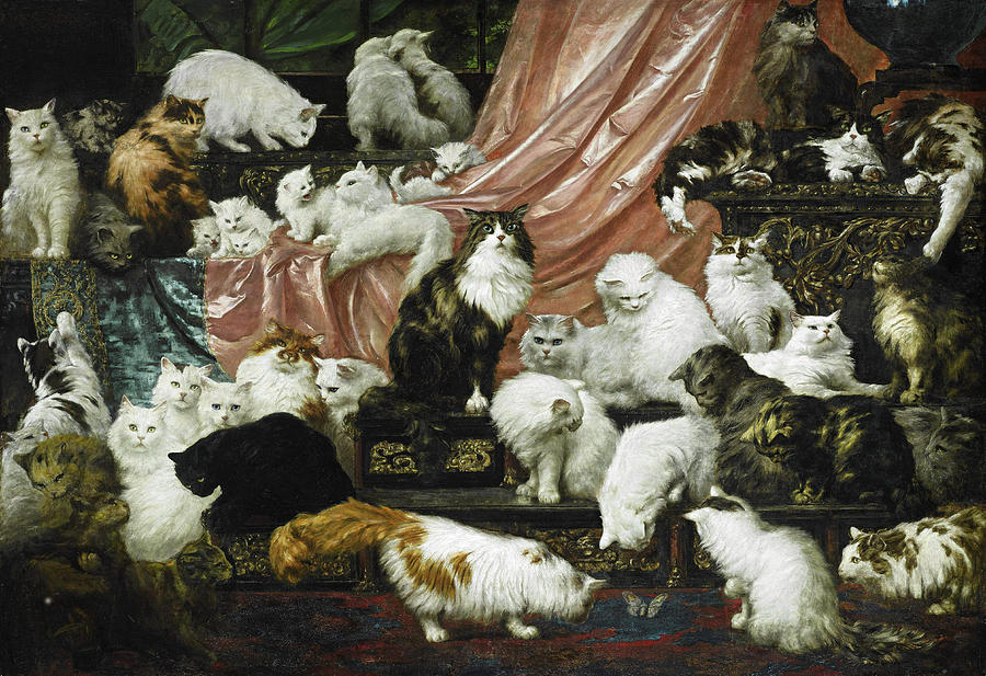 My Wife's Lovers Painting - My Wifes Lovers by Carl Kahler