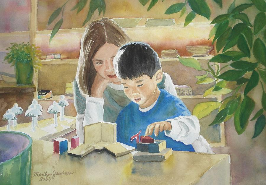 Boy Painting - My Work by Marilyn Jacobson