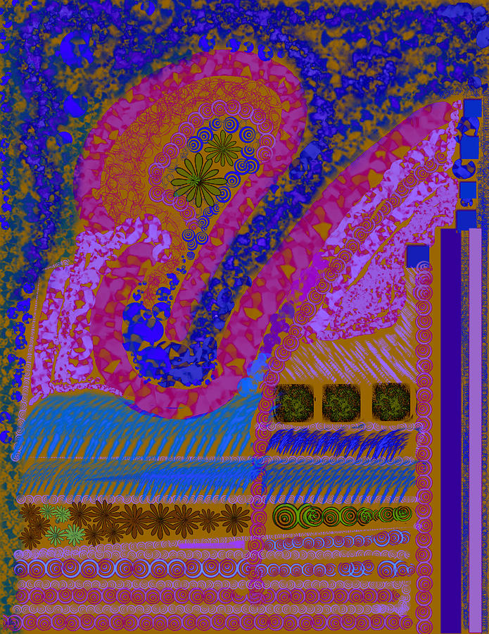 My Yard 2 Digital Art by Suzanne Udell Levinger