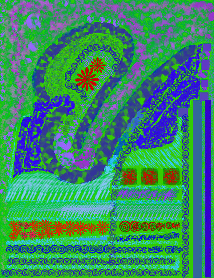 My Yard 3 Digital Art by Suzanne Udell Levinger