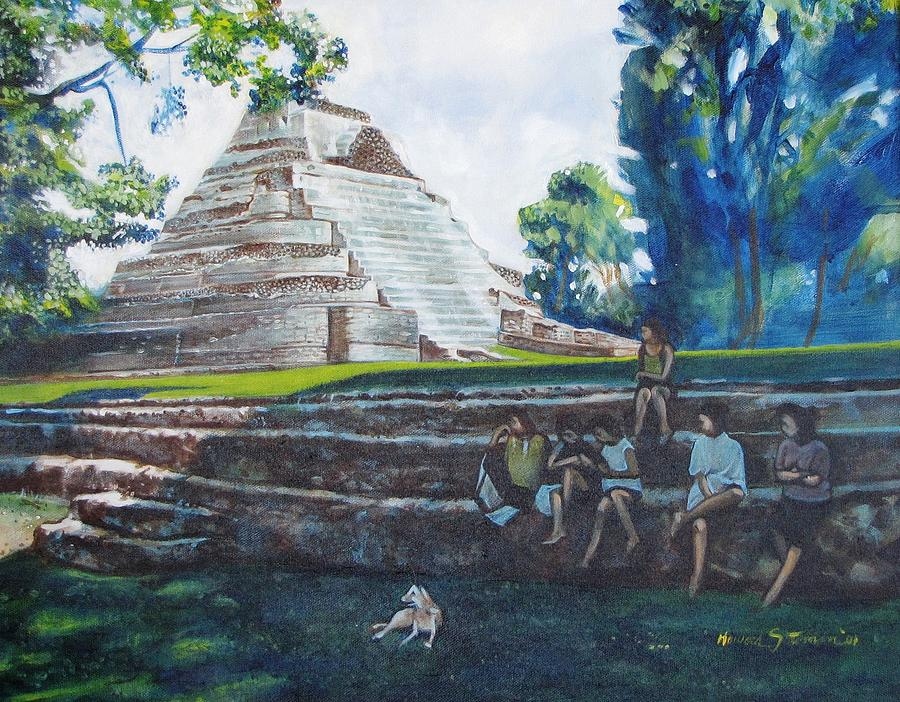 Myan Temple Painting by Howard Stroman