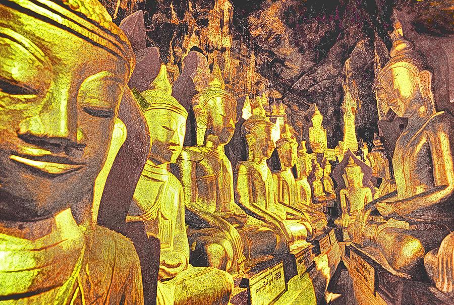 Myanmar Photograph - Myanmar Buddhas by Dennis Cox WorldViews