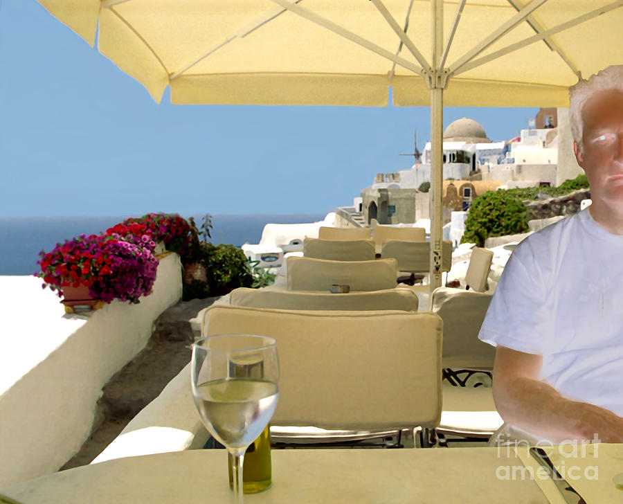 Restaurant Photograph - Mykonos Restaurant by Madeline Ellis