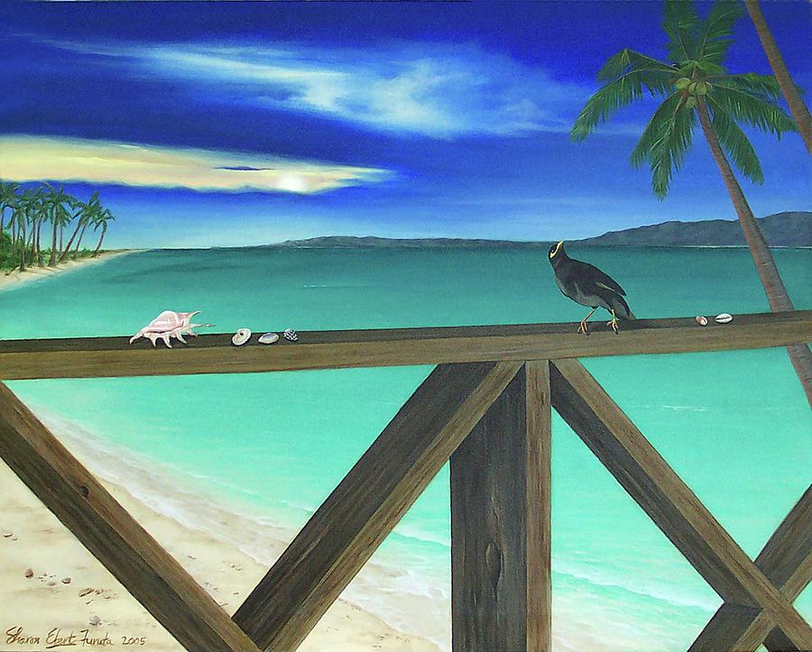 Seascape Painting - Mynah Bird by Sharon Ebert