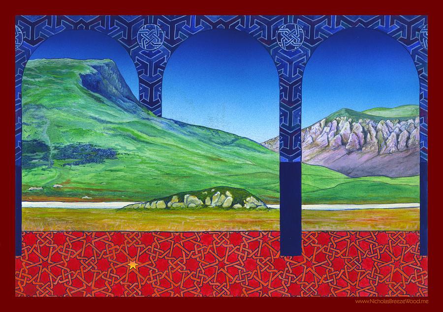 Snowdonia Painting - Mynydd Drws-y-coed and Llyn-y-Gader by Nicholas Breeze Wood