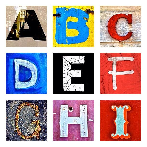 Alphabet Letters Photograph - myownalphabet A to I by Julie Gebhardt