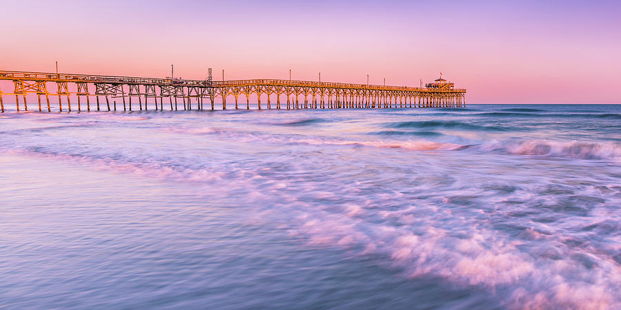 Myrtle Beach Cherry Grove Pier Sunset Panorama Photograph by ...