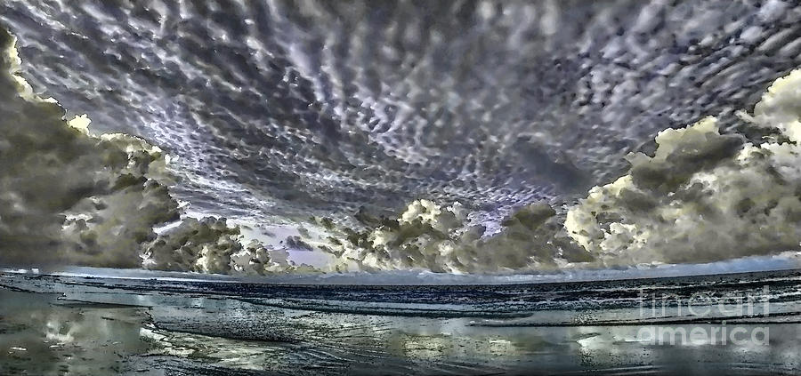 Myrtle Beach Hand Tinted Panorama Sunrise by Jeff Breiman