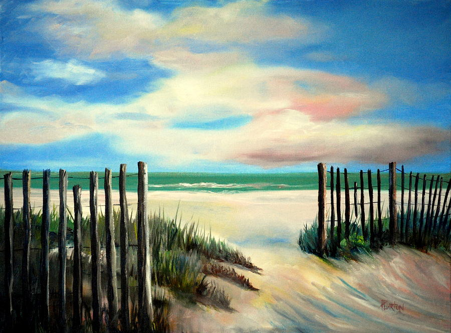 Myrtle Beach Sands Painting By Phil Burton