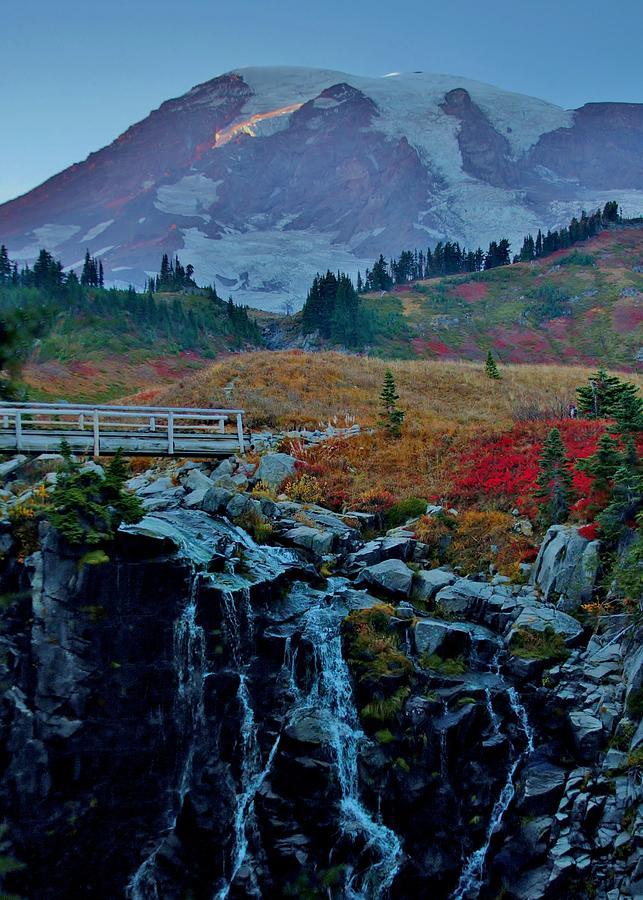 Myrtle Falls At Mt. Rainier Photograph