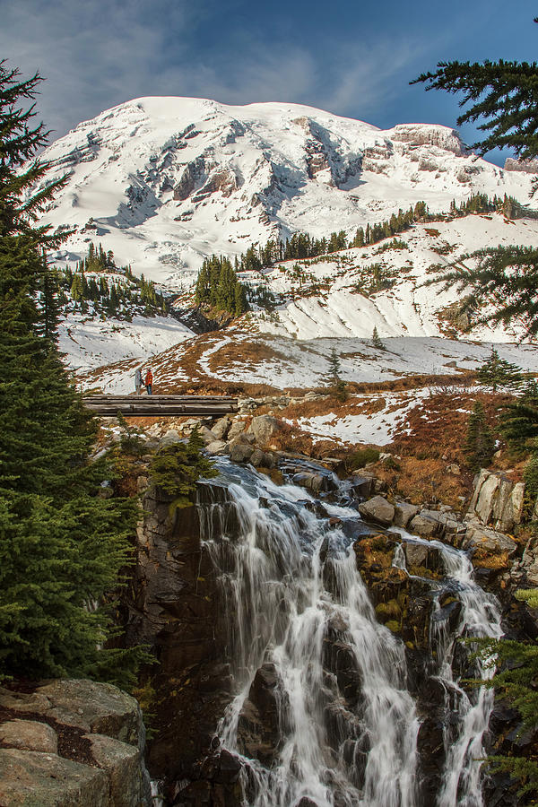 Myrtle Falls, Mt Rainier by Tony Locke
