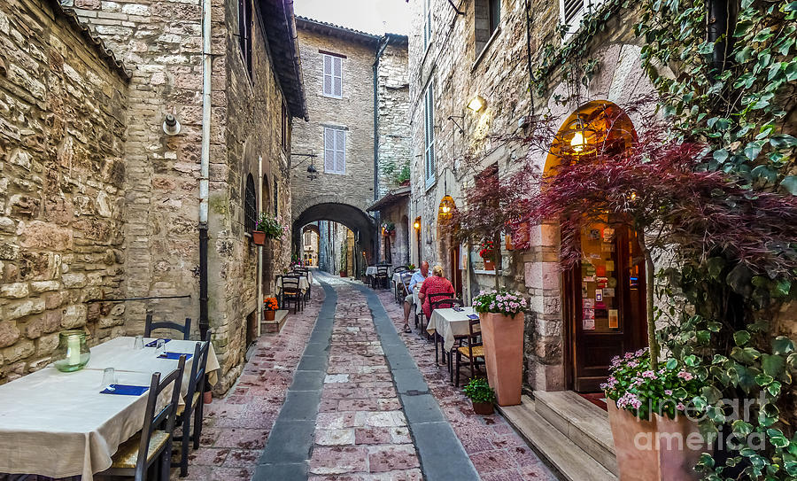Mysterious Alleyway In Ancient European Town Photograph By