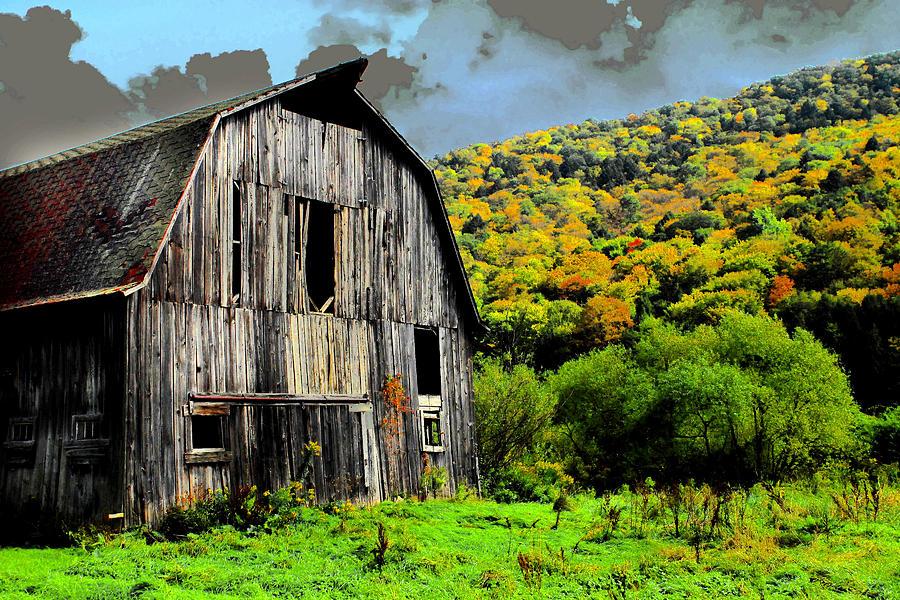 Barn Photograph - Mysterious Barn by Barry Shaffer