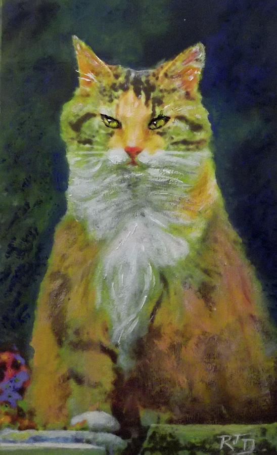 Mysterious Cat Painting