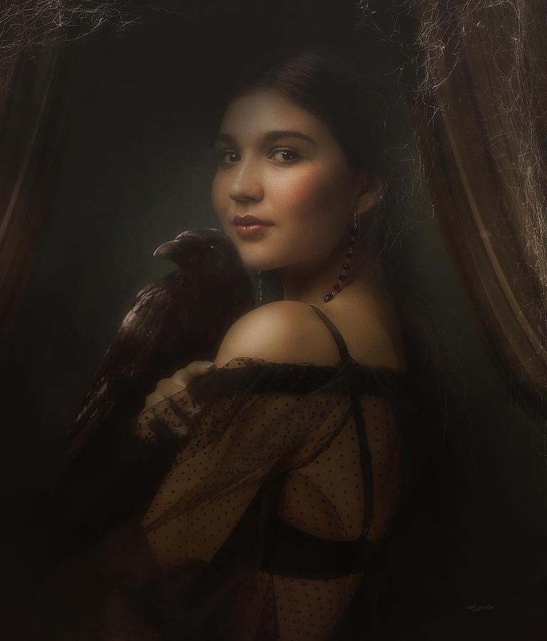 Woman Photograph - Mysterious Eye II by Cindy Grundsten