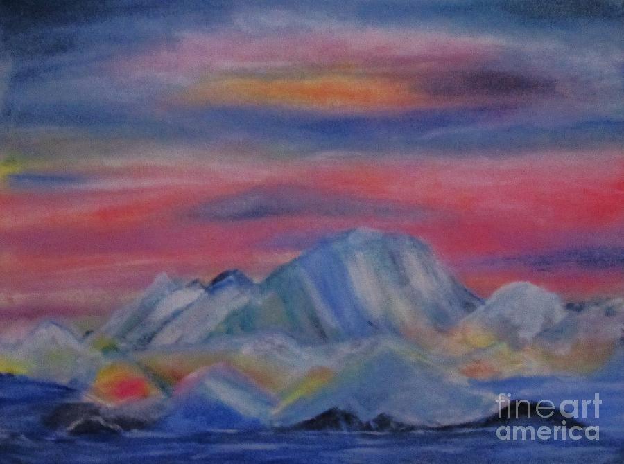 Mysterious Glaciers Painting