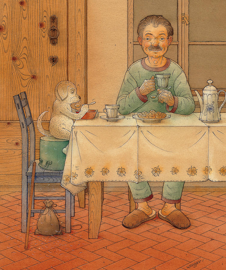 Mysterious Guest Painting by Kestutis Kasparavicius