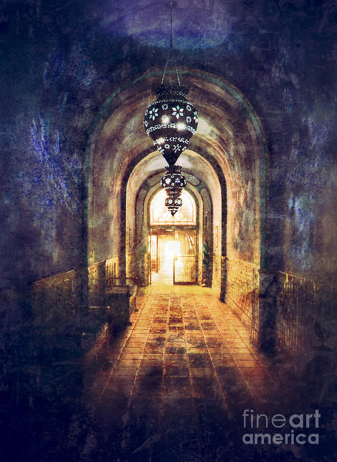 Hall Photograph - Mysterious Hallway by Jill Battaglia