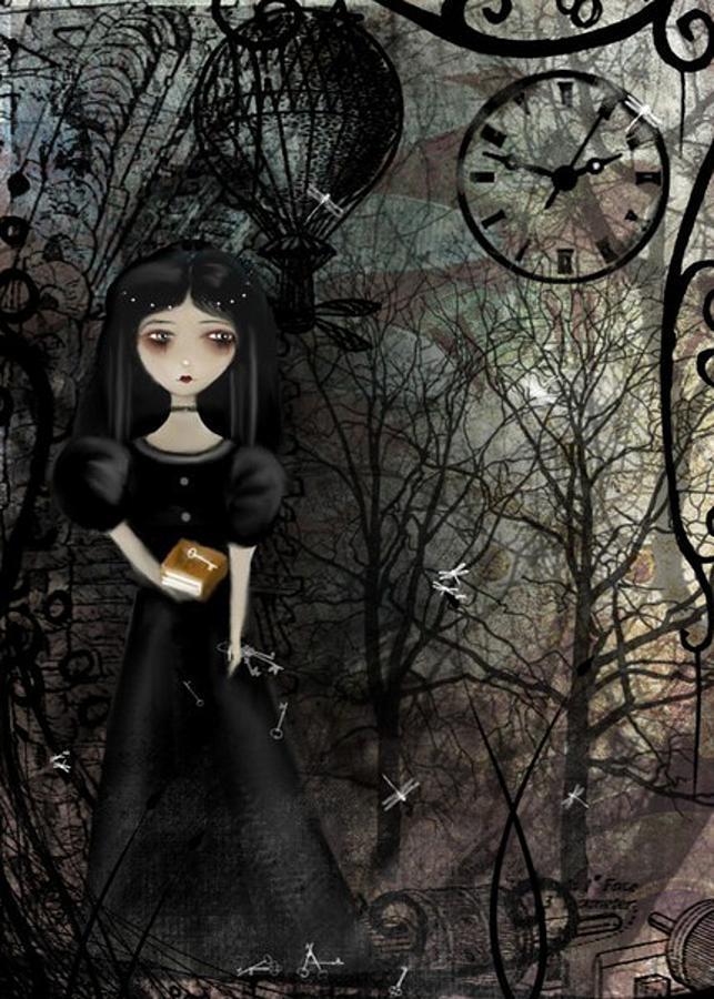 Steampunk Digital Art - Mysterious Kingdom by Charlene Zatloukal