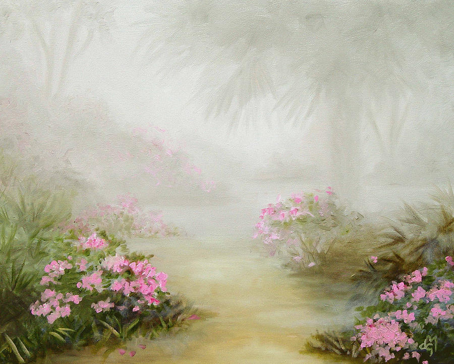 Florida Landscapes Painting - Mysterious Morning by Diane Martens