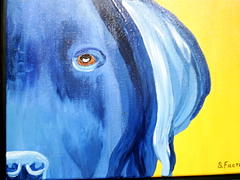 Pet Portraits Painting - Mysterious by Suzanne Filotei
