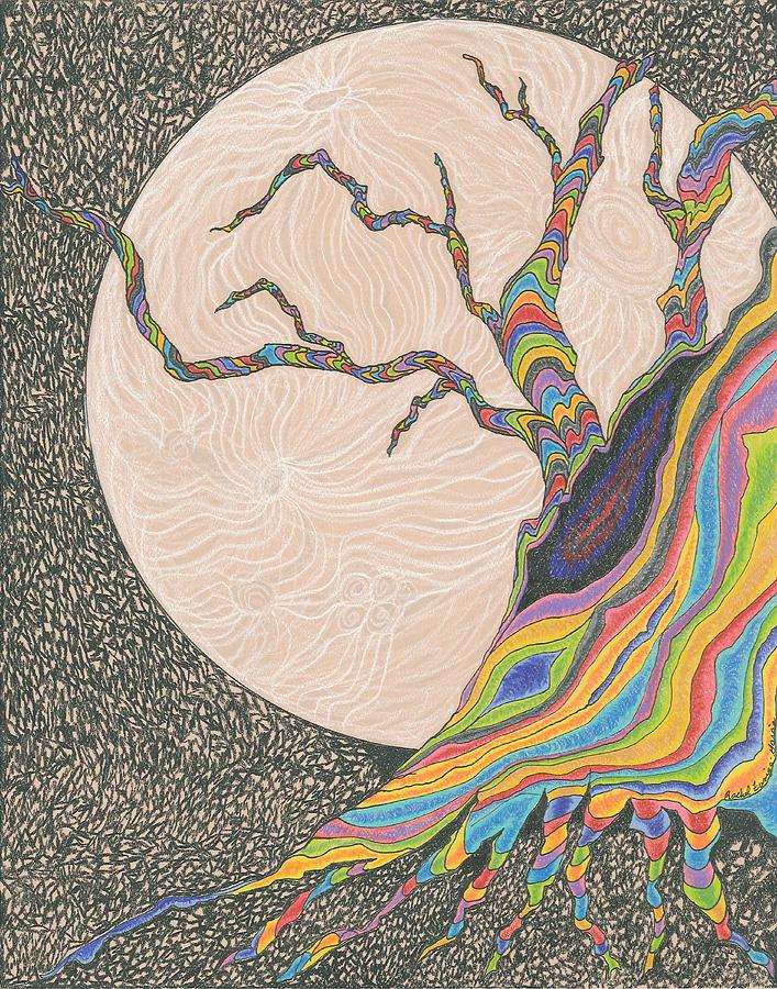 Tree Drawing - Mysterious Universe by Rachel Zuniga