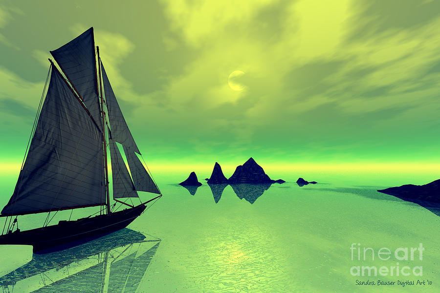 Bryce Digital Art - Mysterious Voyage by Sandra Bauser Digital Art