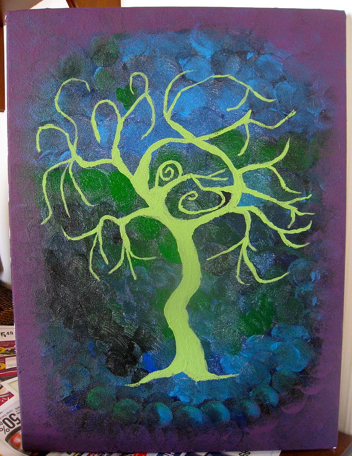 Tree Painting - Mysterons by Krysten Jorgensen