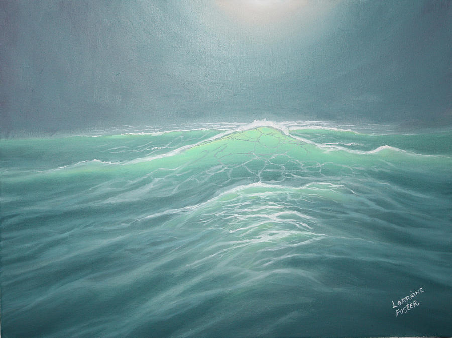 Sea Painting - Mystery At Sea by Lorraine Foster