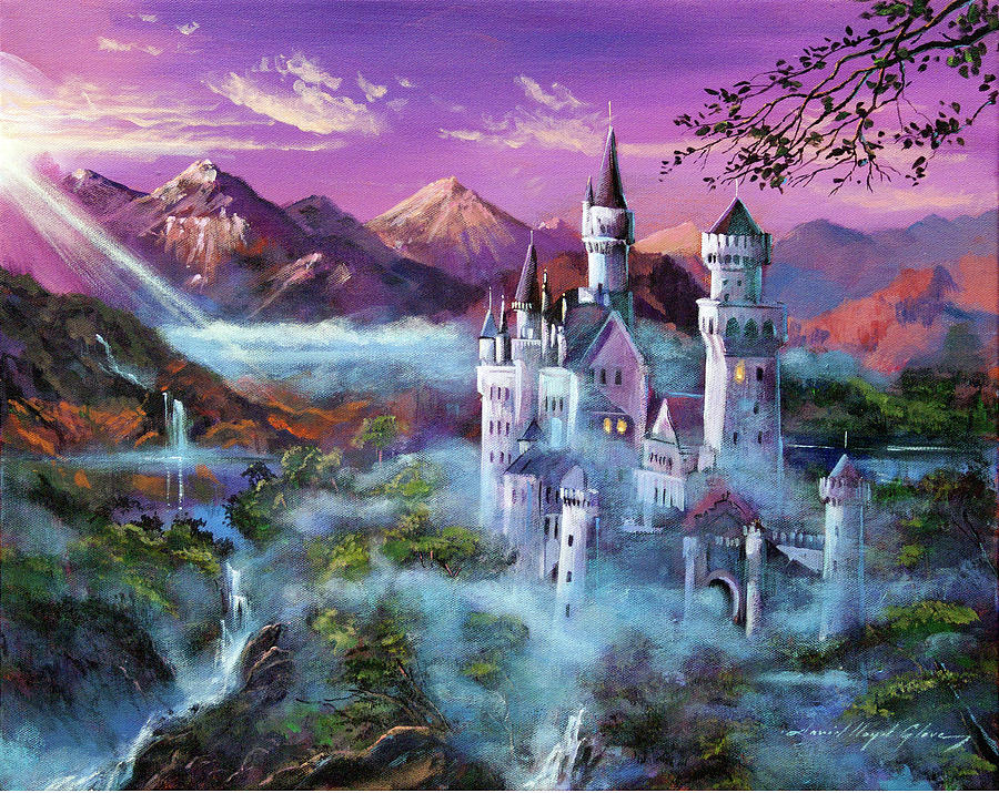 Fantasy Painting - Mystery Castle by David Lloyd Glover