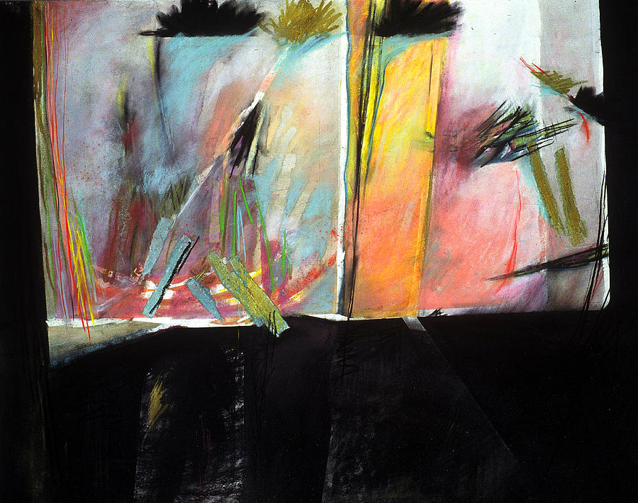 Abstract Landscape Painting - Mystery Landscape by Sue Reed