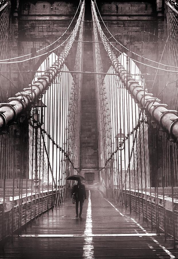 Brooklyn Bridge Photograph - Mystery Man Of Brooklyn by Az Jackson