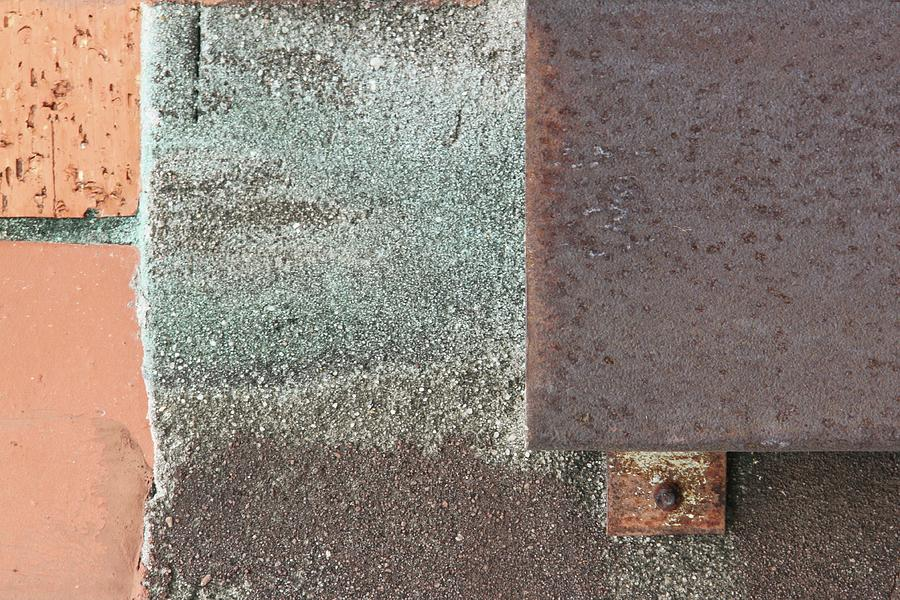 Brick Photograph - Mystery Metals by Russell Owens