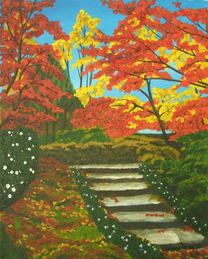 Fall Landscape Painting - Mystery Walk by Brandy House